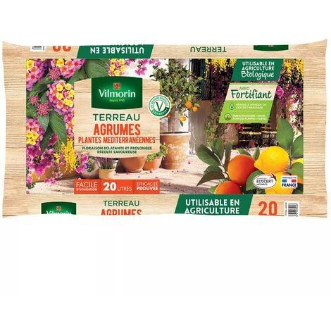 Terreau agrumes plantes méditerranéennes Vilmorin sac de 20 litres