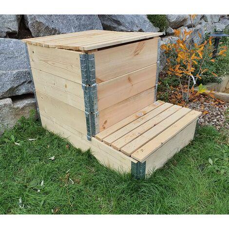Composteur évolutif en bois naturel de 570 litres