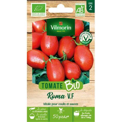 Sachet de graines Tomate Allongée Roma VF BIO