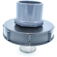 Couvercle 15cm pour cuve 1000L avec entrée PVC 75/90 et filtre 2 pouces