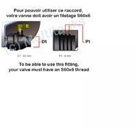 Raccord robinet en laiton chromé sortie 3/4'' 90 degrés - 3/4'' BSP