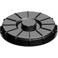 Couvercle 22cm pour cuve 1000L avec ouverture centrale , couleur noire