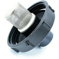 Couvercle 15cm pour cuve 1000L avec entrée PVC 50/63 et filtre 2 pouces