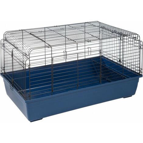 cage pour lapin. 100 x 57 x 54 cm. Sprinters bleu.