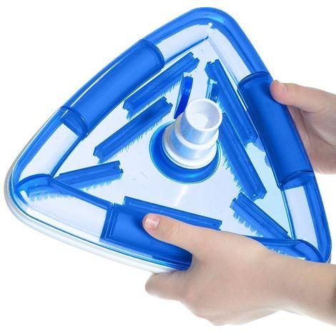 Aspirateur balai triangulaire avec brosse pour piscine liner