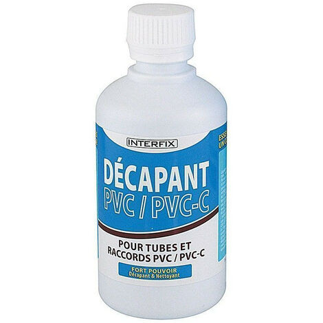 250 ml Décapant pour tube PVC rigide piscine.