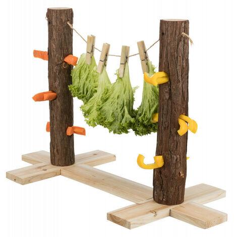 Duo tronc d'arbre pour aliments. 53 x 34 x 25 cm. pour lapins.