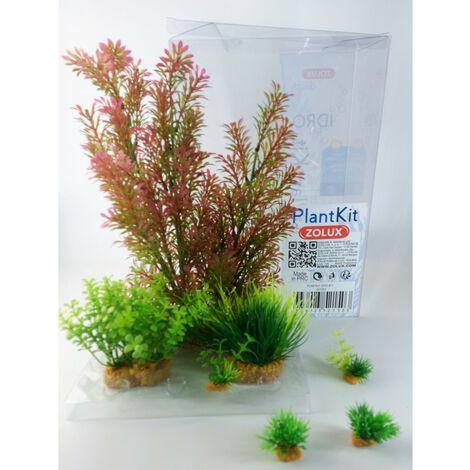 Déco plantkit idro n°1. plantes artificielles. 7 pieces. H 36 cm. décoration d'aquarium.