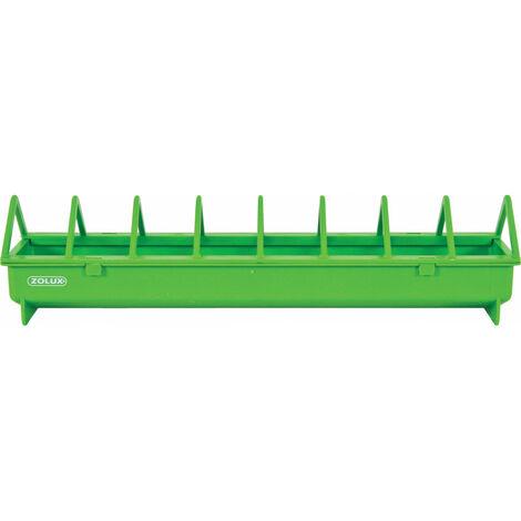 Mangeoire 40 cm. vert en plastique. pour basse cour.