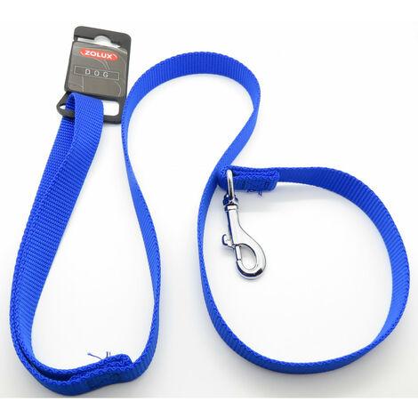 laisse nylon . taille 1 m . 20 mm . couleur Bleu. pour chien.