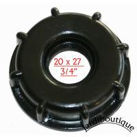 Robinet PVC, pour cuve IBC 1000 Litres avec raccord écrou de S60 X 6
