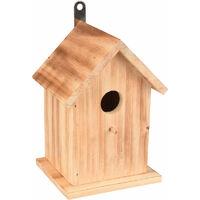 Nichoir pour oiseaux GIRAY . 15 x 12.5 x 20 cm. en bois flammé nature