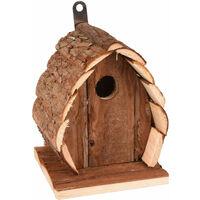 Nichoir pour oiseaux GUIDO. 13 X 13 X 17 cm. en bois naturel.