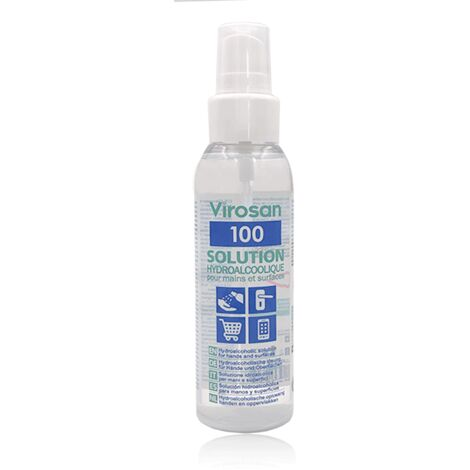Solution hydroalcoolique, gel, 100ml, 1L & 5L - VIROSAN