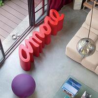 Modern design bench indoor and outdoor SLIDE Amore   Colour: Black