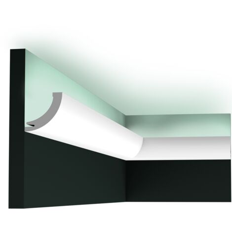 C362 Corniche plafond pour éclairage indirect Orac Decor - 5x5x200cm (h x p x L) - moulure décorative polyuréthane - Conditionnement : A l'unité