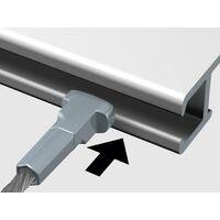 Câble acier Twister Micro Noir 150 cm pour cimaise 1mm - Accessoire Cimaise Artiteq - longueur : 150 cm - conditionnement : à l'unité