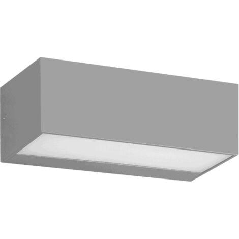 Aplique Exterior Masala 1xe27 Gris Ip65policarbonato 9x23x10,1