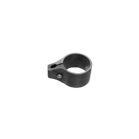Colliers de Fixation Poteau Portillon Grillagé Gris Anthracite - Lot de 6
