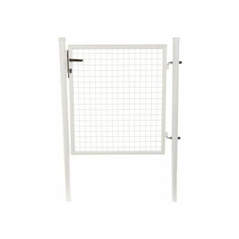 Portillon Jardin Grillagé Blanc JARDIMALIN - 1,2 mètre
