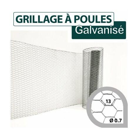 Grillage Triple Torsion Galvanisé - Maille Hexa 13mm - Longueur 25m - 0.5 mètre