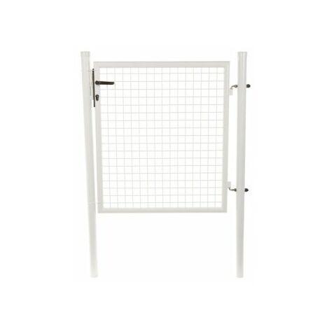 Portillon Jardin Grillagé Blanc JARDIMALIN - 1 mètre
