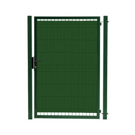 Kit Portillon Jardin Grillagé Occultable Vert - JARDIPRO + Occultation - 1,30 mètre