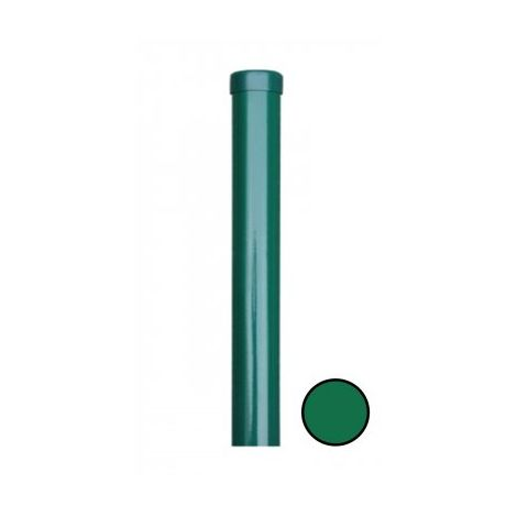 Poteau Rond Vert - Diamètre 48mm - JARDITOP - 2,30 mètres