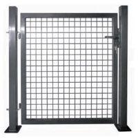 Portail de clôture à porte simple Acier enduit de poudre - 142030