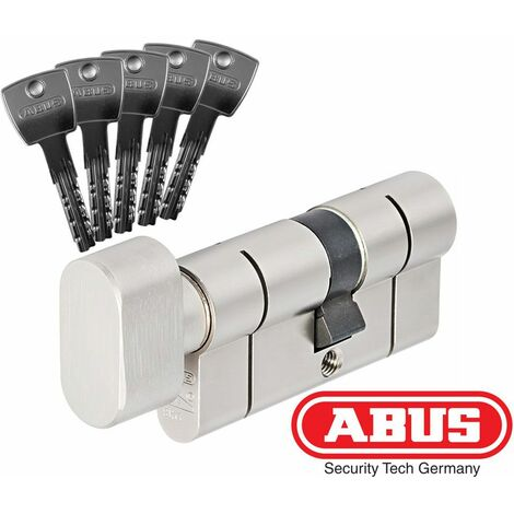 Cylindre de serrure bouton ABUS D10PS haute protection - Alu