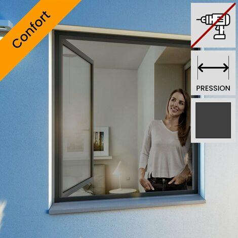 Moustiquaire pour fenetre cadre fixe ultra plat Blanc 100x120 cm - Blanc