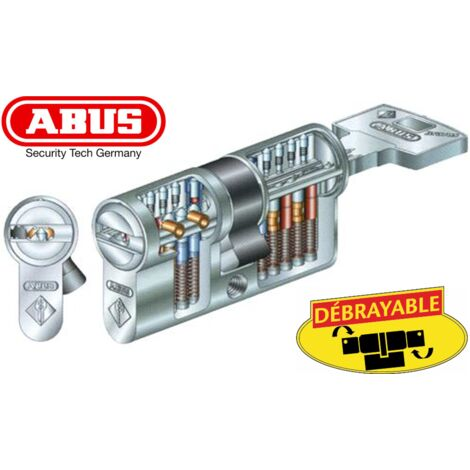Cylindre ABUS BRAVUS 2000 40x50mm - Alu