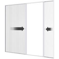 Moustiquaire plissée double porte premium Gris anthracite - Gris anthracite