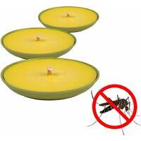 Bougie anti moustique citronnelle bambou x3 - Alu