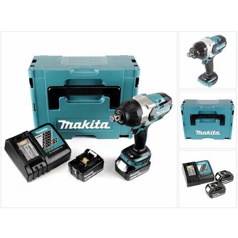 Makita DTW 1001 RFJ 18 V Li-Ion Brushless Boulonneuse à chocs sans fil avec Boîtier Makpac + 2x Batteries BL 1830 3,0 Ah + Chargeur rapide DC 18 RC