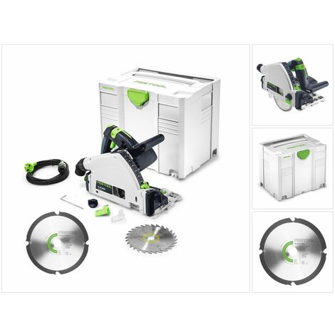Festool TS 55 REBQ-PLUS Scie plongeante 1200 Watt + Coffre de transportt + Lame de scie diamantée160 x 2,2 x 20 DIA4