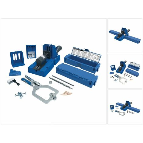 KREG Jig K5 Master System Set ( K5MS ) Kit complet d'assemblage de charpentier avec gabarit de perçage K5 + Base et Pince de serrage