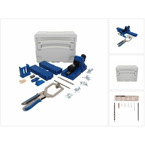 KREG Jig K5MS-EUR-SYS Master System Set Kit complet de menuisier + Gabarit de perçage K5 + Base + Pince de serrage + Coffret de transport Systainer