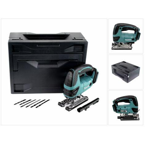Scie sauteuse sans fil Makita DJV 180 ZX 18V + Makbox + Lames de scie, 6 pcs. - sans batterie, sans chargeur