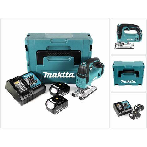 Makita DJV 182 RMJ  Scie sauteuse sans fil 18V Brushless + 2x Batteries 4,0Ah + Chargeur + Coffret
