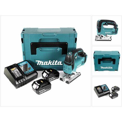Makita DJV 182 RGJ Scie sauteuse sans fil 18V Brushless  + 2x Batteries 6,0Ah + Chargeur + Coffret