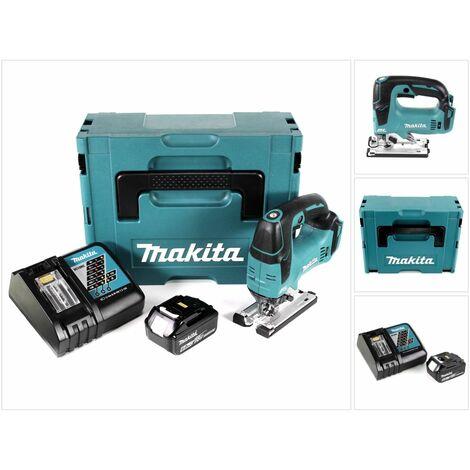 Makita DJV 182 RG1J Scie sauteuse sans fil 18V sans balai + 1x Batterie 6,0Ah + Chargeur + Makpac