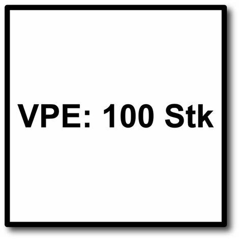 Meisterling Vis de façade 5,5x35 mm, 100 pcs., tête plate 12 mm, filetage partiel, empreinte Torx, acier inoxydable V4A, vert foncé (010030000141)