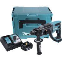Makita DHR 202 Y1J-P 18 V Perforateur Burineur SDS-Plus avec boîtier Makpac + 1x Batterie 3,0 Ah + Chargeur