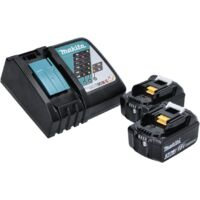 Makita DHR 202 RFJ 18 V Perforateur Burineur SDS-Plus avec boîtier Makpac + 2x Batteries 3,0 Ah + Chargeur