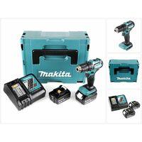 Makita DDF 483 RFJ 18 V Perceuse visseuse sans fil avec boîtier Makpac + 2x Batteries BL 1830 3,0 Ah + Chargeur DC18RC