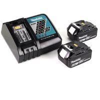 Makita DCL 180 RG W 18 V Li-Ion Aspirateur sans fil blanc + 2x Batteries 6,0 Ah + Chargeur