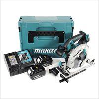 Makita DHS 680 RFJ Scie circulaire sans fil 18V Ø 165 mm + Boîtier MAKPAC 3 + 2x Batteries BL1830 3,0 Ah + Chargeur DC18RC