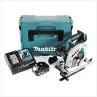 Makita DHS 680 RT1J Scie circulaire sans fil 18V Ø 165 mm + Boîtier MAKPAC 3 + 1x Batterie BL1850 5,0 Ah + Chargeur DC18RC