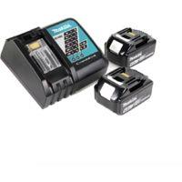 Makita DJV 181 RGJ 18 V Li-ion Scie sauteuse sans fil + 2x Batteries BL 1860 B 6,0 Ah + Chargeur Makita DC 18 RC